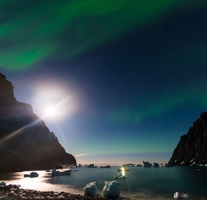 Banque d'images video paysages marins, aurore boréale